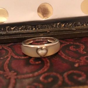 Mother of Pearl and Sterling Silver Ring Size 7